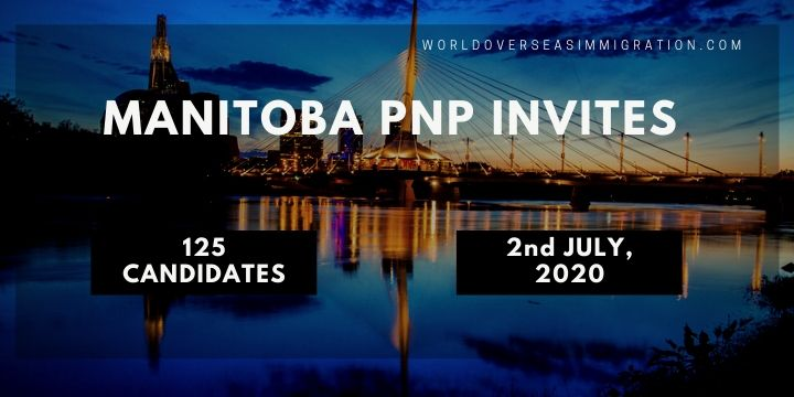 Manitoba PNP invites 125 immigration candidates- 2nd July