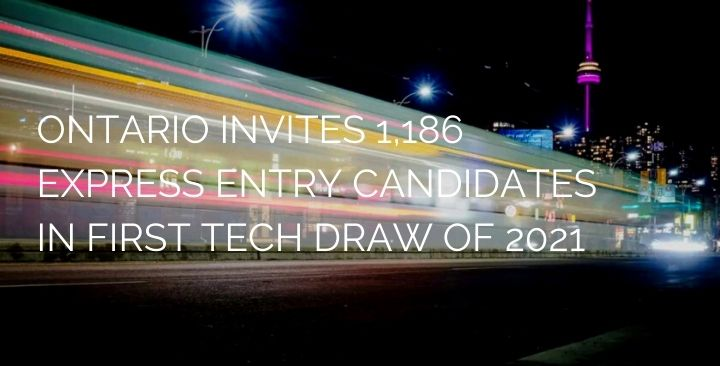 Ontario PNP invited 1,186 Express Entry candidates in new Tech Draw