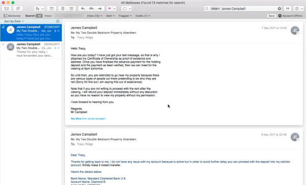Apple Mail Interface