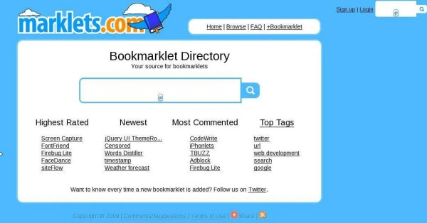 Bookmarklet Directory