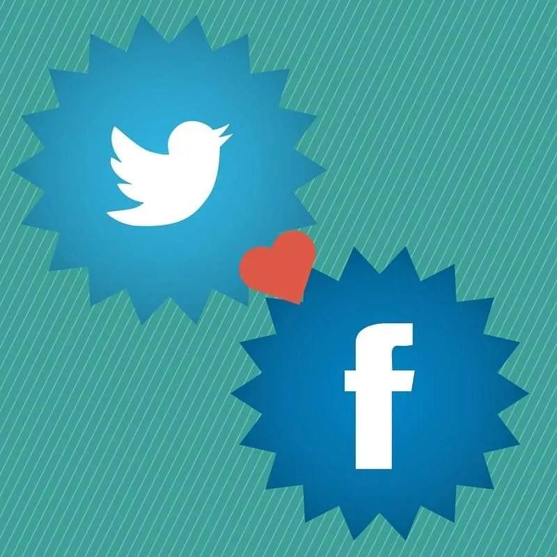 Facebook Twitter Logos