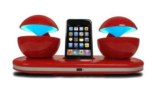 Speakal iCrystal Speak Dock with two speakers