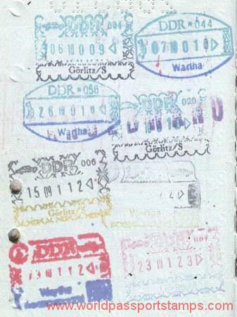 passport stamps in GDR