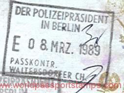 Germany 1989 stamp border crossing in Berlin