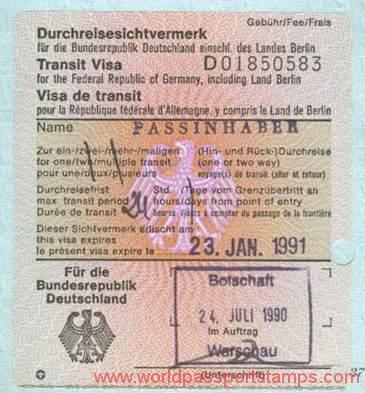 Germany Transit Visas