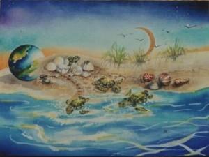 turtles by visionary artist Madeleine Tuttle