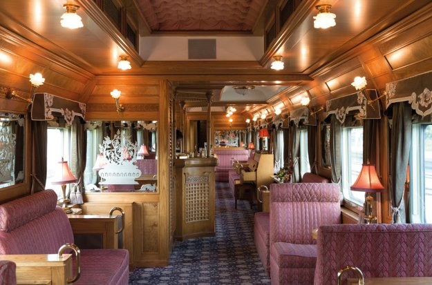 The piano bar of the Eastern and Orient Express.
