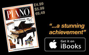 Piano; advert for book