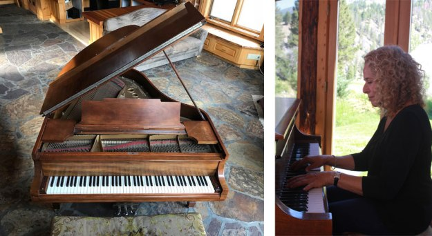 The Steinway Model M; and with Carole King