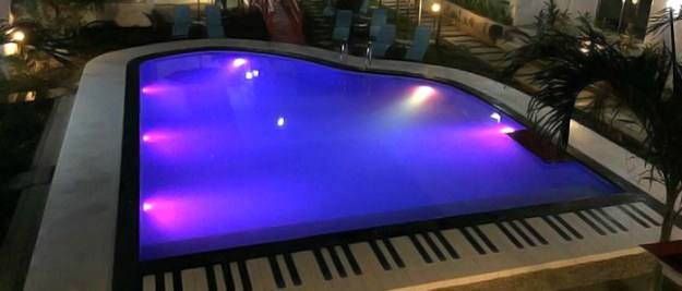 Paboreal Boutique Hotel's piano-shaped pool