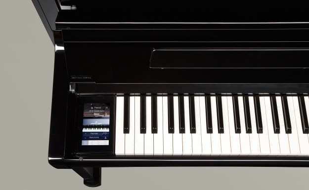 The Kawai's touchscreen