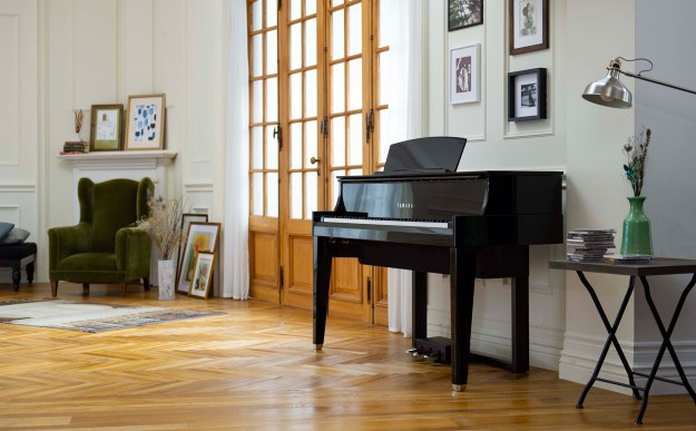 Image showing Yamaha's AvantGrand N1X hybrid piano in a domestic environment