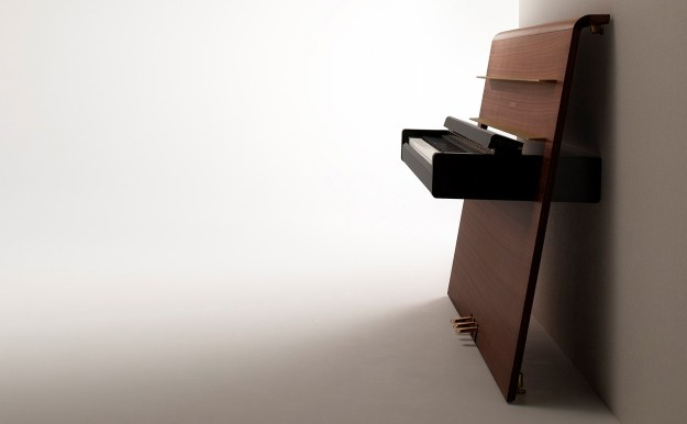 Yamaha's Re-Mind digital concept piano with unique flat plane casework