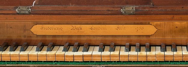 Nameboard of the First Fleet piano