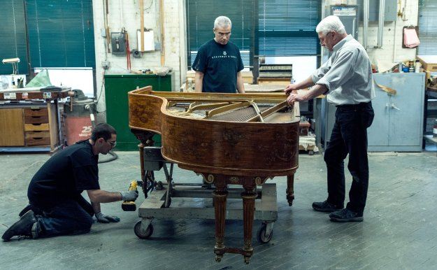 Cole Porter's piano at the Steinway and Sons workshop
