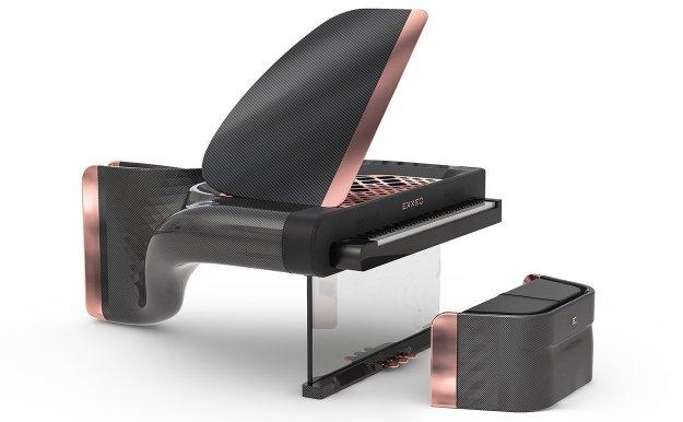 Exxeo features a stunning carbon fibre casework