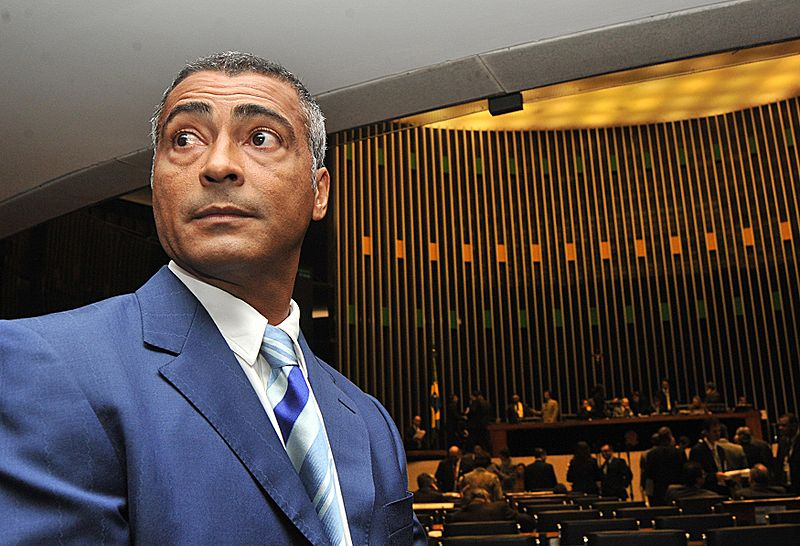Romário in the Chamber of Deputies of Brazil.