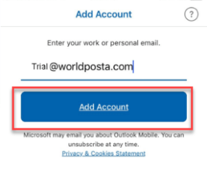 55555555555555 300x245 - Configure WorldPosta on Outlook iOS App