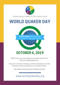 World Quaker Day 2019 Poster