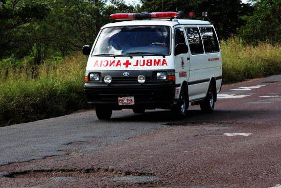 Costarica Ambulance Pothole