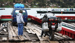 Getting On Titicaca Ferry