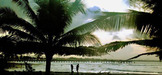 Tela Beach Sunset