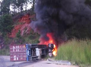 Truck Fire Danli