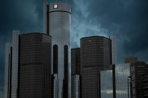 Detroit Skyline - GM Building
