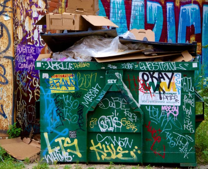 Dumpster in Detroit