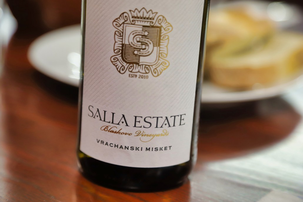 2018 Salla Estate Vrachanski Misket from the estate Blaskovo Vineyard.