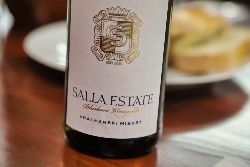 2018 Salla Estate Vrachanski Misket from the estate Blaskovo Vineyard.