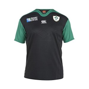 Canterbury Men's Ireland Alternate Pro Short Sleeve Rugby Jersey - Bright White, Small