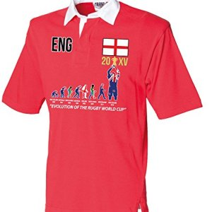 """World Cup 20XV (UPDATED 2015 WINNERS VERSION) """"Evolution Of Rugby"""" Adult Rugby Shirt"""