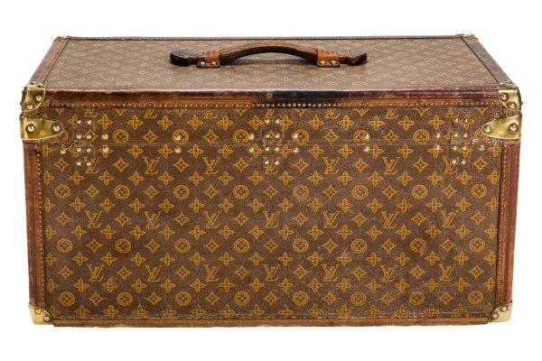 "Vintage Louis Vuitton ""."" Small Steamer Trunk Circa"