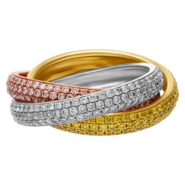 Tri-color Rolling Ring World'