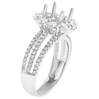 18K White Gold & Diamonds Ring Setting