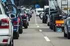 Heavy traffic jams