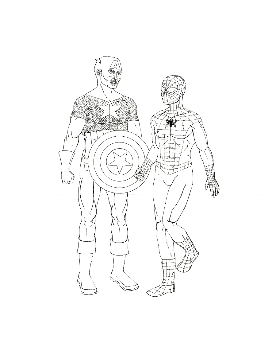 Spider-Man takes on Classic Avengers