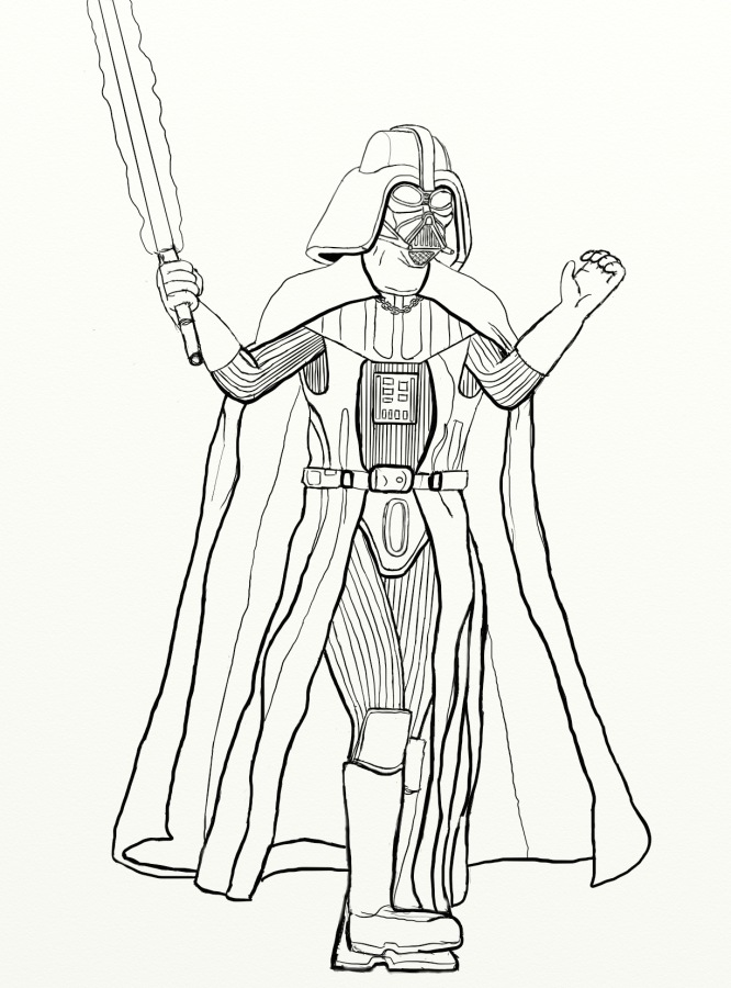 M/chibi I Darth Vadar Coloring Pages Coloring Pages