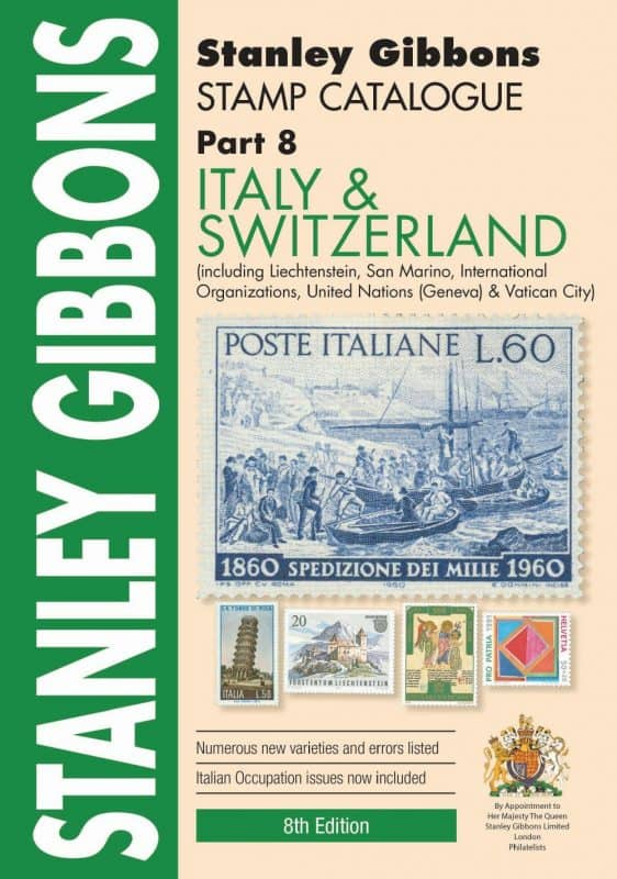 Stanley Gibbons Italy & Switzerland Stamp Catalogue – 8th Edition