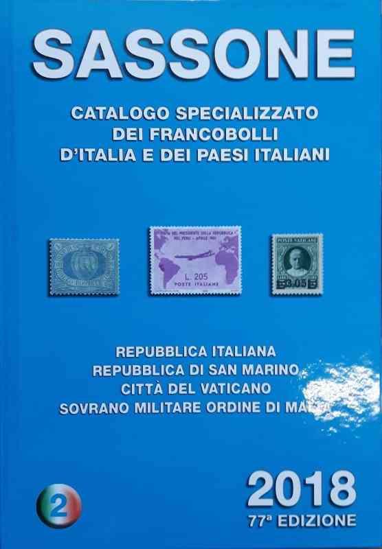 Sassone Catalogo Specializzato dei Francobolli D'Italia e dei Paesi Italiani 2018-2
