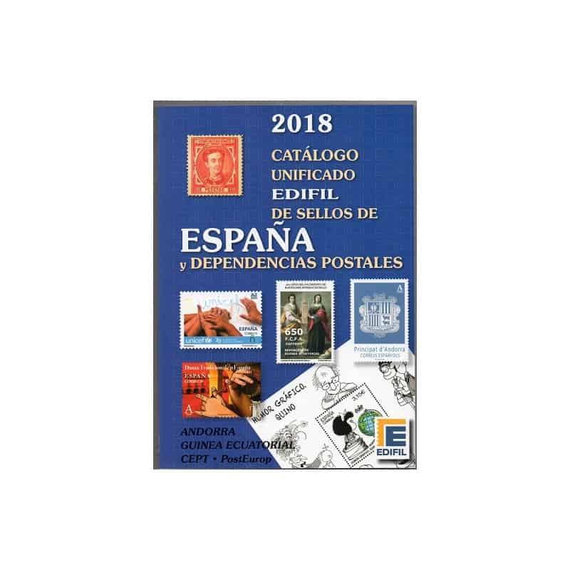 Catálogo Unificado de sellos de España y Dependencias Postales 2018