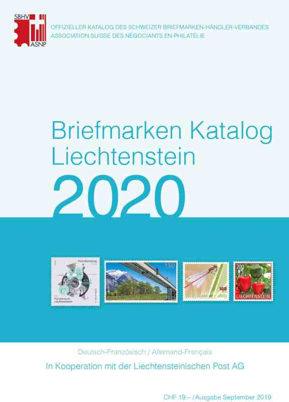 SBK – Stamps catalog Liechtenstein 2020