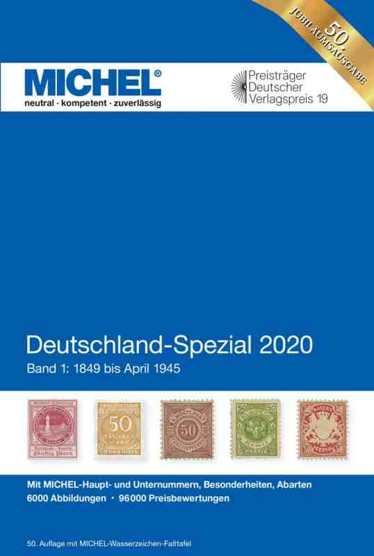 Michel Germany Specialized 2020 – Volume 1 (1849–April 1945)