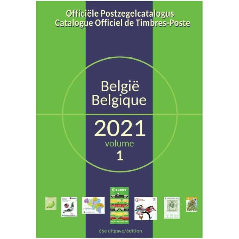 Official Stamp Catalogue Belgium 2021
