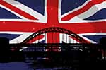 Union Jack over London Bridge