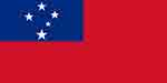 Samoa flag courtesy of Wikipedia