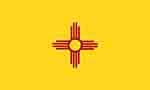 New Mexico state flag courtesy of FlagPictures.org