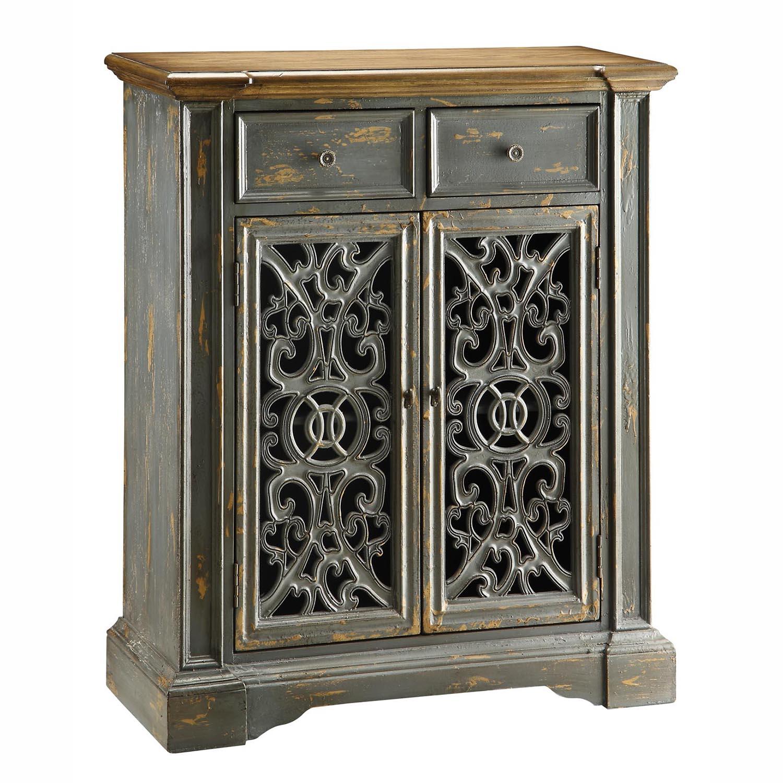 Chatsworth Grey Pierced Door Cabinet Furniture