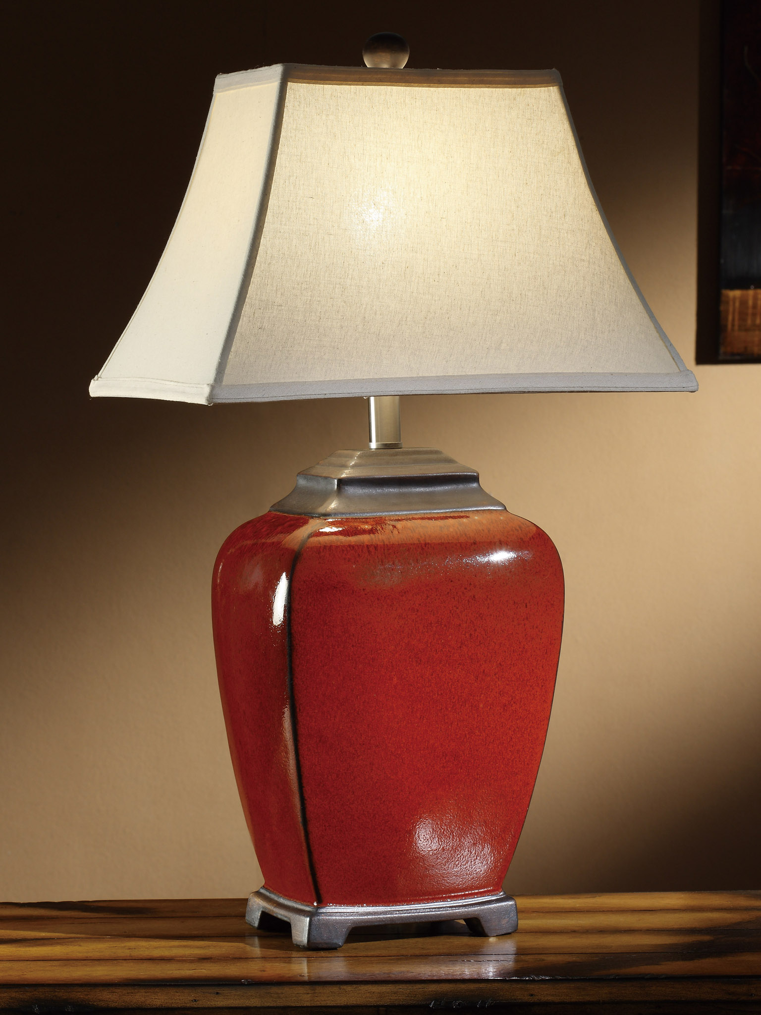 Raina China Red Table Lamp